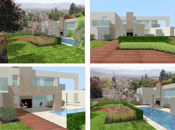 Landscape 3D models bring your garden design to life and enable you to see an accurate representation of what your project will look like. Below is an example of a contemporary style house and garden.