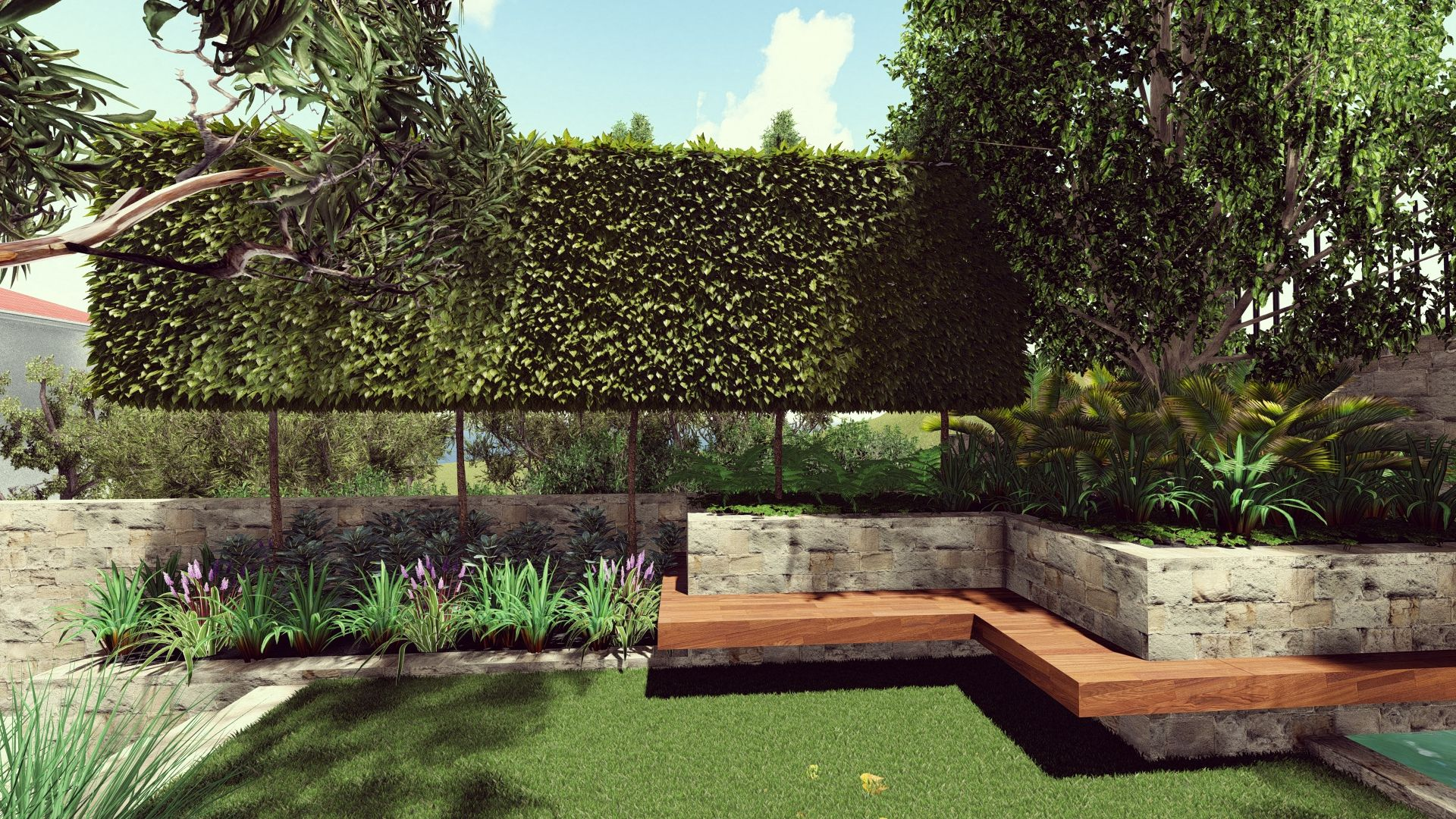 Blue Mountains Garden Plan 3D Model